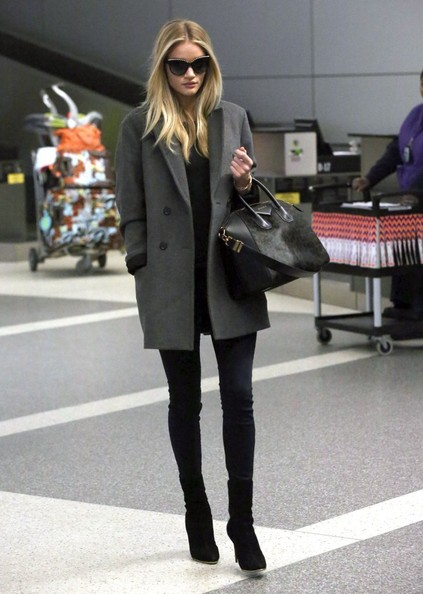 More Pics of Rosie Huntington-Whiteley Pea Coat (6 of 32) - Rosie Huntington-Whiteley Lookbook - StyleBistro