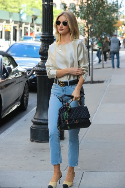 More Pics of Rosie Huntington-Whiteley Leather Belt (7 of 20) - Belts Lookbook - StyleBistro []