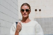 Rosie Huntington-Whiteley Oval Sunglasses