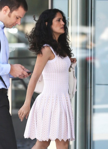 More Pics of Salma Hayek Day Dress (1 of 11) - Salma Hayek Lookbook - StyleBistro