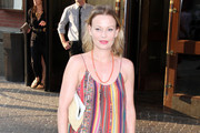 Samantha Mathis Leather Clutch