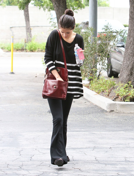 Selena Gomez Leather Messenger Bag