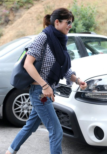More Pics of Selma Blair Solid Scarf (1 of 14) - Solid Scarf Lookbook - StyleBistro