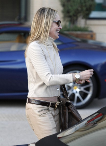 More Pics of Sharon Stone Smoking Slippers (1 of 24) - Sharon Stone Lookbook - StyleBistro