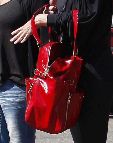 More Pics of Sharon Stone Patent Leather Tote (1 of 17) - Sharon Stone Lookbook - StyleBistro