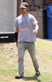 Shia LaBeouf wore a cute 'Best Dad on Earth' T-shirt while out on a stroll.