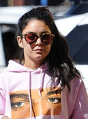 Vanessa Hudgens rocked a pair of round tortoiseshell shades while out in Studio City.