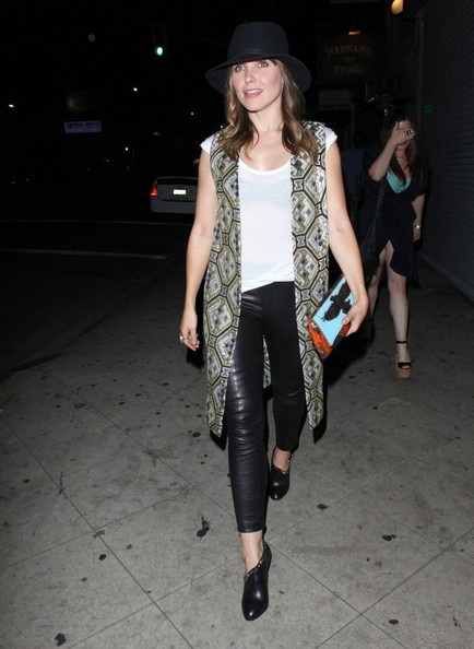 More Pics of Sophia Bush Leather Pants (1 of 8) - Leather Pants Lookbook - StyleBistro