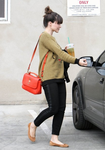 Sophia Bush Leather Shoulder Bag