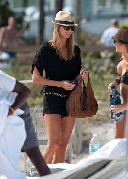 Stacy Keibler Tasseled Hobo Bag