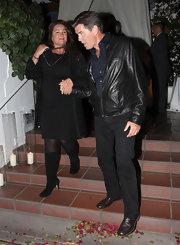 Keely Shaye Smith finished off her all-black look with chic knee-high boots.