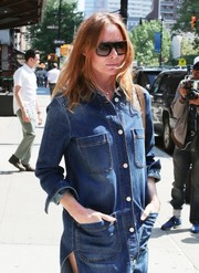Stella McCartney put on a pair of modern square shades for a day out in New York City.