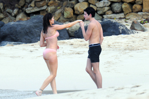 Stephanie+Seymour in Stephanie Seymour And Kids On The Beach In St. Barts