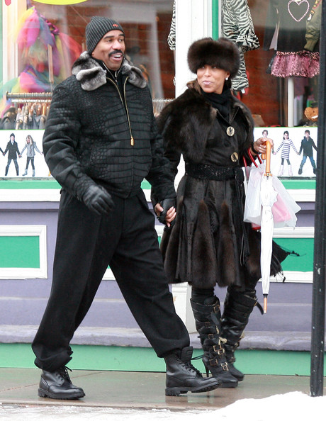 Steve+Harvey in Steve Harvey And Wife Marjorie Out Shopping In Aspen