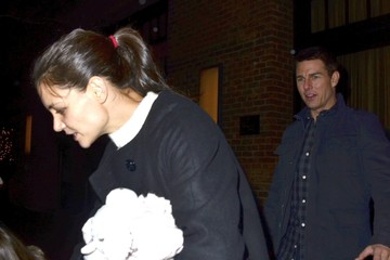 Katie Holmes Tom Cruise Tom, Katie & Suri Leaving The Greenwich Hotel In New York