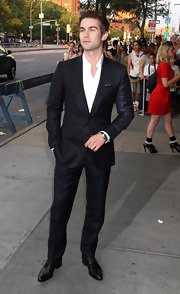 Chace Crawford showed off his sleek suit at the premeire of 'Twelve'.
