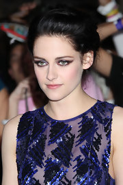 Kristen Stewart twisted her raven tresses into a romantic updo at the LA premiere of 'The Twilight Saga: Breaking Dawn - Part 1.'