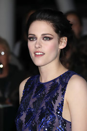 Kristen Stewart complemented her violet sequins with amethyst shadows at the LA premiere of 'The Twilight Saga: Breaking Dawn - Part 1.'