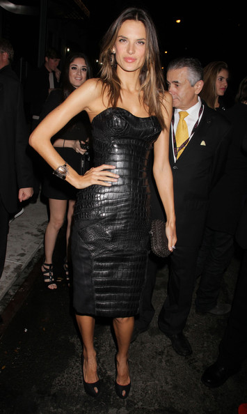 More Pics of Alessandra Ambrosio Leather Dress (1 of 4) - Alessandra Ambrosio Lookbook - StyleBistro
