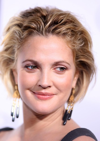 More Pics of Drew Barrymore Messy Cut (1 of 38) - Drew Barrymore Lookbook - StyleBistro