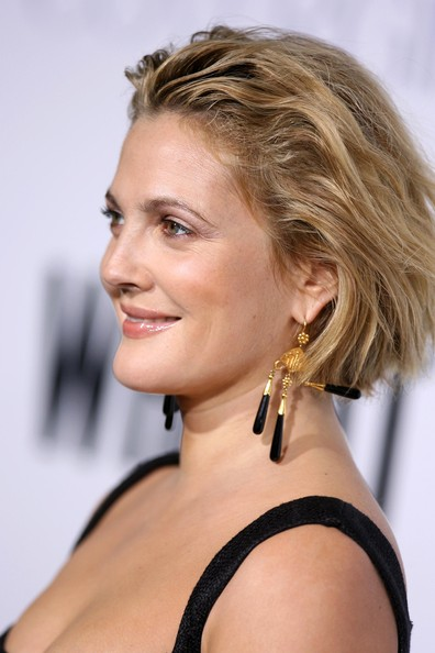 More Pics of Drew Barrymore Messy Cut (3 of 38) - Drew Barrymore Lookbook - StyleBistro