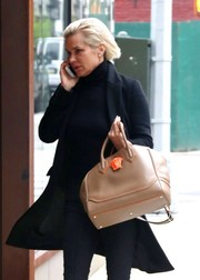 Yolanda Hadid was spotted out in New York City carrying the celeb-favorite Versace Palazzo Empire bag.