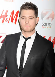 Michael Buble channeled an older era in a retro fab skinny tie.