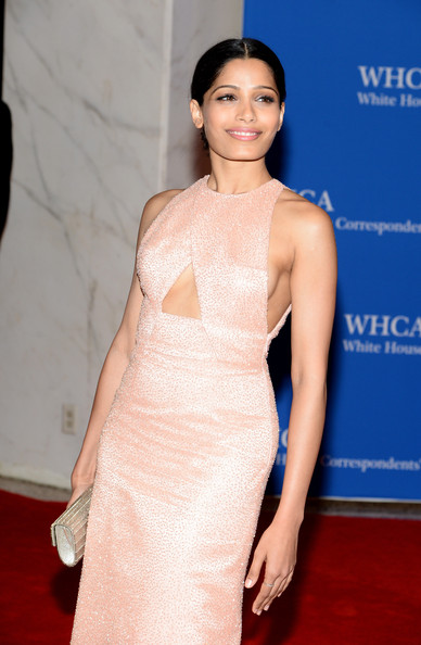More Pics of Freida Pinto Cutout Dress (1 of 8) - Freida Pinto Lookbook - StyleBistro