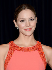 Katharine McPhee opted for a sleek center-parted ponytail when she attended the White House Correspondents' Association Dinner.