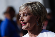Florence Henderson styled her hair into a wedge cut for the Indianapolis 500.