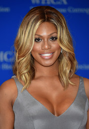 Laverne Cox stuck to her usual center-parted waves when she attended the White House Correspondents' Association Dinner.