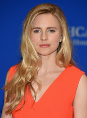 Brit Marling attended the White House Correspondents' Association Dinner wearing ultra-girly long waves.