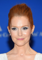 Darby Stanchfield lit up her beauty look with ice-blue eyeshadow.
