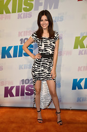 This patterned fishtail dress gave Victoria Justice a fun and flirty vibe at Wango Tango.