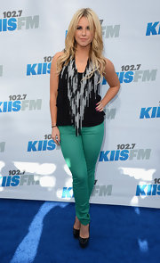 Chelsie Hightower wore these bright aqua skinny jeans to KIIS FM's Wango Tango.