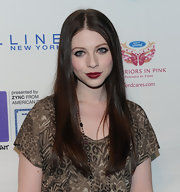 Michelle Trachtenberg opted for fall's must-have berry lips while attending the Lucky Shops VIP Night in New York. The actress offset her look with wispy lashes and lined eyes.