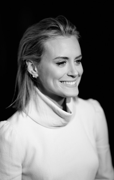 More Pics of Taylor Schilling Pumps (1 of 15) - Taylor Schilling Lookbook - StyleBistro [image,hair,face,white,photograph,hairstyle,facial expression,eyebrow,black-and-white,beauty,chin,taylor schilling,arrivals,shonda rhimes,annual global womens rights awards,editors note,pacific design center,feminist majority foundation,bw,10th annual global womens rights awards]
