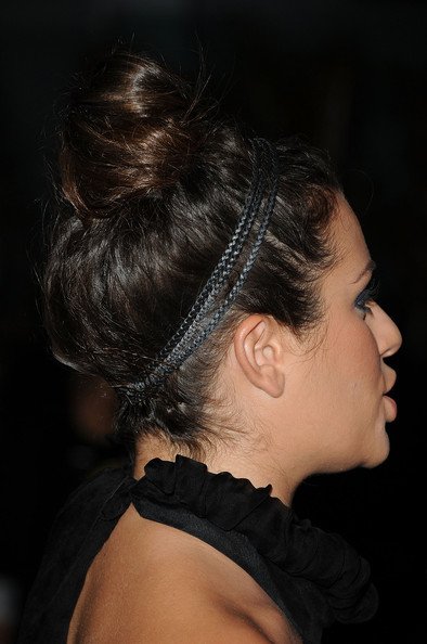 More Pics of Lea Michele Messy Updo (1 of 28) - Lea Michele Lookbook - StyleBistro