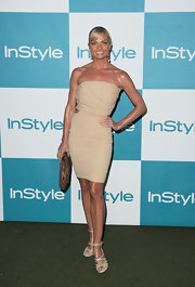 Jaime Pressly was glowing in a strapless nude cocktail dress for the InStyle Summer Soiree.