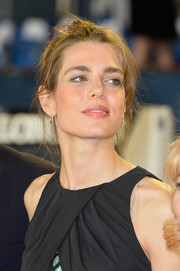 Charlotte Casiraghi sported a disheveled updo at the Longines Global Champions Tour of Monaco.