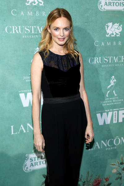 More Pics of Heather Graham Jumpsuit (1 of 2) - Heather Graham Lookbook - StyleBistro [celebration of the 2018 female oscar,clothing,dress,little black dress,cocktail dress,hairstyle,fashion,shoulder,premiere,long hair,blond,nominees,women in film - arrivals,nominees,oscar,heather graham,women in film,beverly hills,california,celebration]