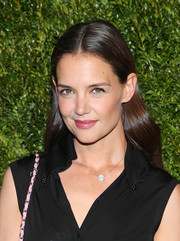 Katie Holmes showed off a super-glossy center-parted 'do at the Chanel Tribeca Film Festival Artists Dinner.