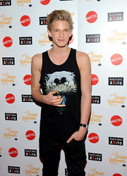 Cody Simpson wore this exciting graphic print tiger tank to the 11th Annual Dream Halloween party.