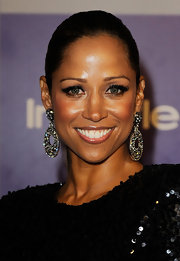 Stacey Dash wowed the crowd with her dangling diamond earrings are the Warner Brothers and InStyle Golden Globe After Party.