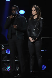 Sean Combs looked sophisticated at the 12-12-12 Concert in his all-black ensemble, topped off with a handsome suede jacket.