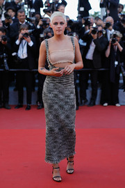 Kristen Stewart rocked a fresh-off-the-runway tweed suspender skirt by Chanel at the Cannes Film Festival screening of '120 Beats Per Minute.'