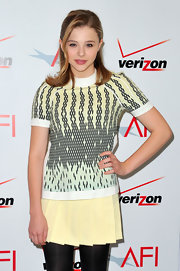 Chloe Moretz wore a youthful yellow mini to the AFI Awards.