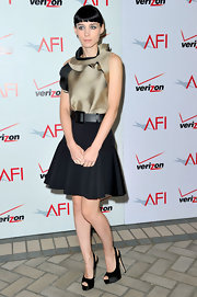 Rooney Mara was perfectly elegant at the AFI Awards. She finished off the look with black satin slingbacks.
