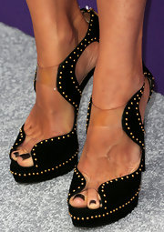 Kim Raver rocked a pair of black platform pumps with gold studs at the Chrysalis Butterfly Ball.