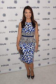 Ming-Na got graphic with her leopard-print peplum dress.